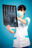 Doctor with xray Royalty Free Stock Photos