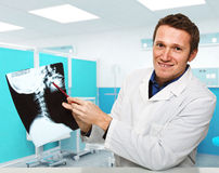 Doctor with xray Stock Image