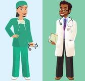 Doctor y cirujano Ilustración del Vector