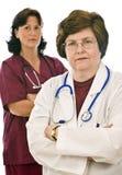 Doctor y enfermera Foto de archivo libre de regalías