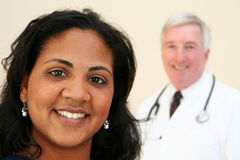 Doctor y enfermera Fotografía de archivo libre de regalías