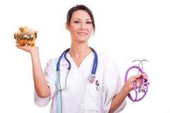 Doctor y guarro Imagen de archivo libre de regalías