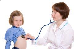 Doctor y niño Fotografía de archivo libre de regalías