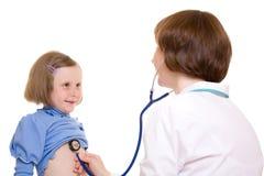 Doctor y niño Imagenes de archivo