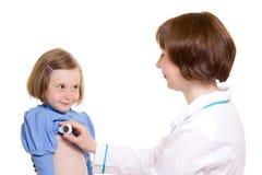 Doctor y niño Fotos de archivo