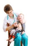 Doctor y niño Fotografía de archivo
