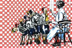 Doctor y niños Imagen de archivo