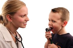 Doctor y paciente Foto de archivo