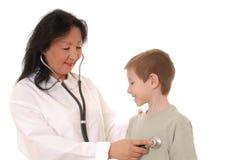 Doctor y paciente 2 foto de archivo