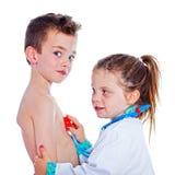 Doctor y paciente Imagenes de archivo