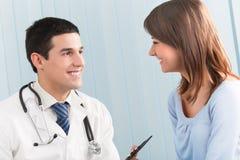 Doctor y paciente Imagen de archivo