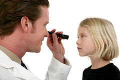 Doctor y paciente de ojo Foto de archivo libre de regalías