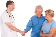 doctor y pacientes Fotografía de archivo