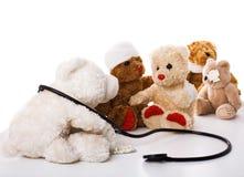 Doctor y pacientes Fotografía de archivo libre de regalías