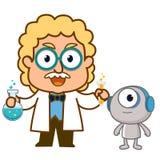 Doctor y robot Foto de archivo libre de regalías