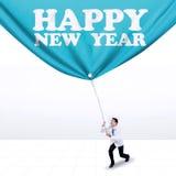 Doctor y texto del Año Nuevo Imágenes de archivo libres de regalías