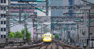Doctor Yellow ,The high-speed test trains Royalty Free Stock Images