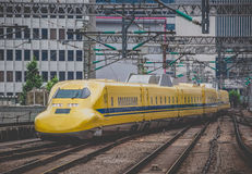 Doctor Yellow ,The high-speed test trains Stock Photos