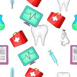 Doctoral pattern, cartoon style. Doctoral pattern. Cartoon illustration of doctoral vector pattern for web Royalty Free Stock Photo