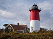 doctorandus in de letteren van Eastham Cape Cod van de Nauset de Lichte vuurtoren Stock Foto