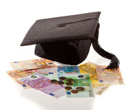 Doctorates and the euro. Royalty Free Stock Photo