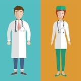 Doctores de sexo femenino y de sexo masculino Imagenes de archivo