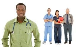 Doctores: El doctor casual Leads Group de profesionales Fotos de archivo