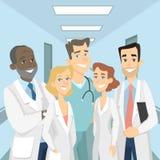 Doctores en clínica ilustración del vector