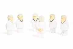 Doctores en el fondo blanco Fotos de archivo