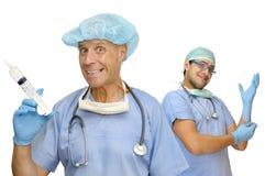 Doctores felices Foto de archivo libre de regalías