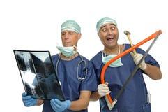 Doctores locos Imagen de archivo libre de regalías