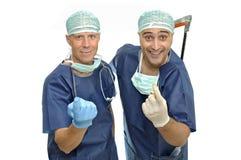 Doctores locos Fotografía de archivo libre de regalías
