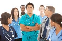 Doctores: Médico en cuestión Leads Group Imagen de archivo libre de regalías