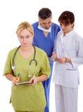 Doctores y enfermera Fotos de archivo libres de regalías