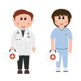 Doctores y enfermeras Imágenes de archivo libres de regalías