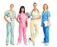 Doctores y enfermeras fotografía de archivo libre de regalías