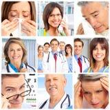 Doctores y pacientes Foto de archivo libre de regalías