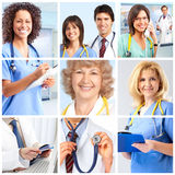 Doctors. Smiling medical doctors with stethoscopes Stock Images