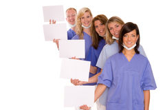 Doctors. A doctor with his team Royalty Free Stock Photo
