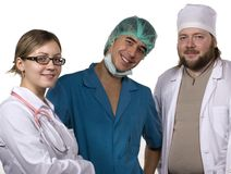 Doctors. Image about colleagues - doctors in hospital Royalty Free Stock Photography