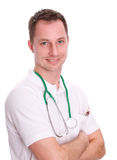 Doctors. A male doctor on white background Stock Photo