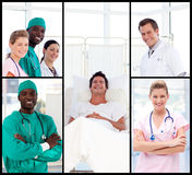 Doctors attending to a patient smiling Stock Photo