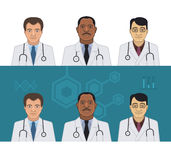 Doctors Avatars Stock Photo
