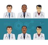Doctors Avatars Stock Photo