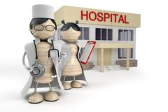 Doctors on a background hospital Royalty Free Stock Image