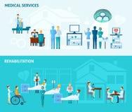 Doctors Banner Set vector illustration