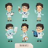 Doctors Cartoon Characters Set1.1 Royalty Free Stock Photos