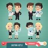 Doctors Cartoon Characters Set1.2 Royalty Free Stock Photos