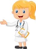 Doctors cartoon make a presentation Royalty Free Stock Photos