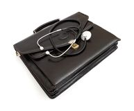 Doctors' case with stethoscope Royalty Free Stock Images